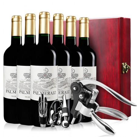宝玛(palmeraiz) 法国进口红酒 宝玛干红葡萄酒750ml*6 整箱·酒