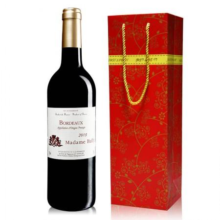 法国原瓶进口 巴菲太太波尔多AOC级干红葡萄酒·750ml*1瓶·酒红色