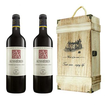 拉菲奥希耶西爱干红葡萄酒750ml*2·酒红色