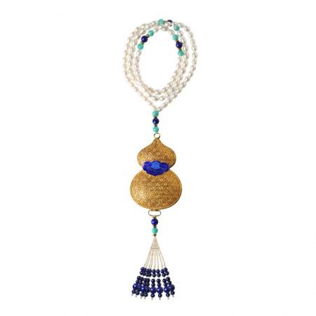 工美珠宝珍珠配花丝葫芦香囊项链