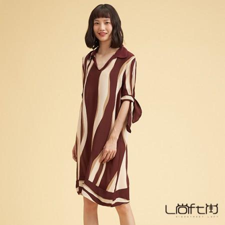 尚街 真丝连衣裙两件套·红色