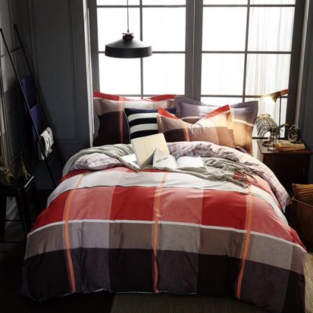 莱薇 秋冬全棉暖绒磨毛保暖四件套6尺床(转换时光)·转换时光