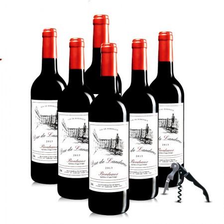 法国进口红酒 兰德公爵干红葡萄酒750ml*6 整箱·酒红色