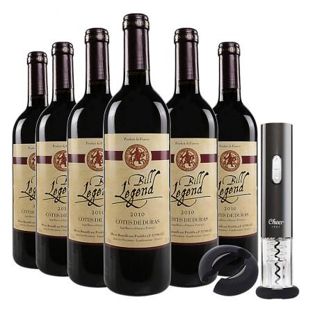 法国进口红酒 比尔干红葡萄酒750ml*6 整箱·酒红色