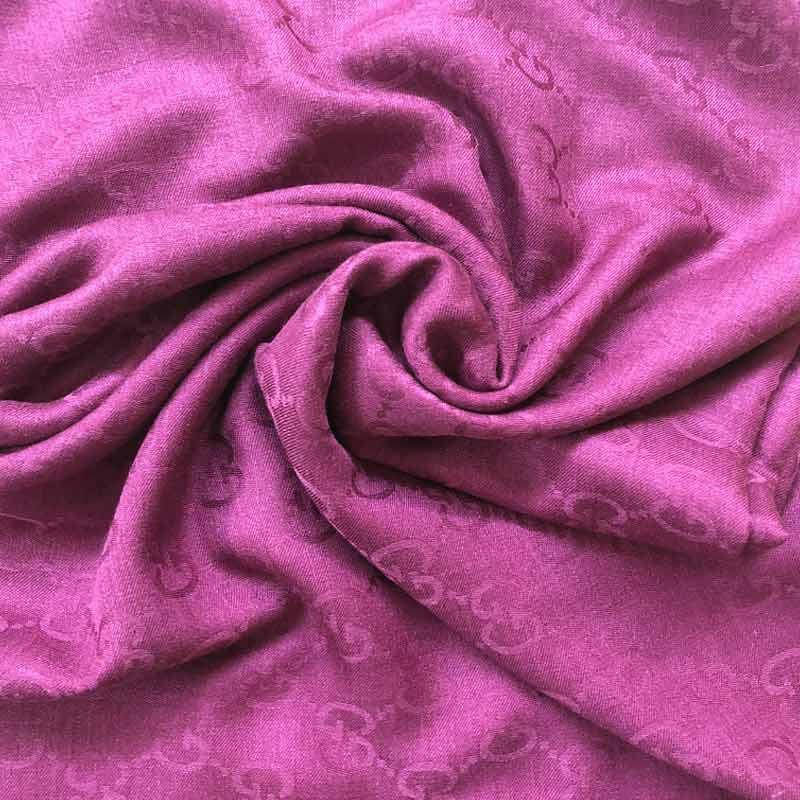 GUCCI新款经典双G超长羊毛围巾·玖红色