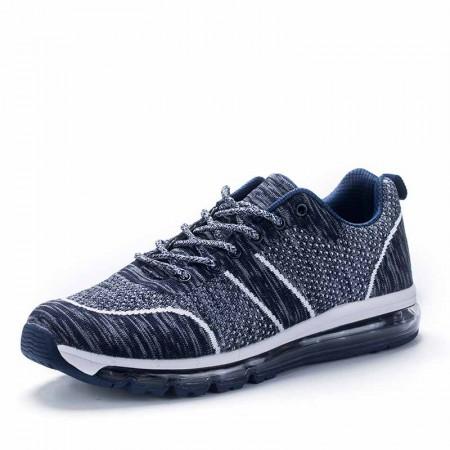 衣客运动休闲情侣慢跑鞋飞织网布轻便减震透气运动跑鞋·EK17QM07014-蓝色