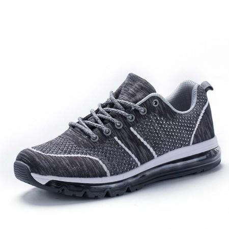衣客运动休闲情侣慢跑鞋飞织网布轻便减震透气运动跑鞋·EK17QM07014-灰色