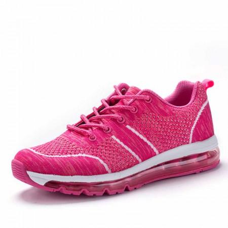 衣客运动休闲情侣慢跑鞋飞织网布轻便减震透气运动跑鞋·EK17QM07014-1-