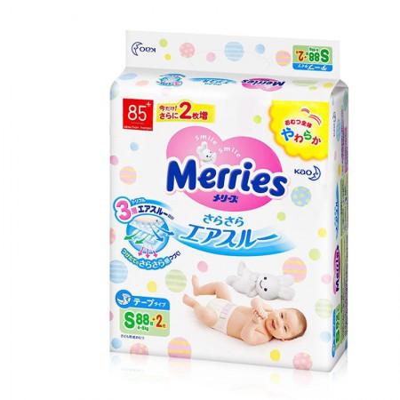 保税区直发 日本Merries花王纸尿裤 增量装 S88+2片