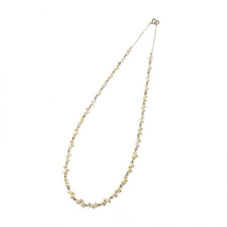 Vermeer 14K黄金AKOYA海水珍珠项链2-3.5mm·珍珠颜色:白色/