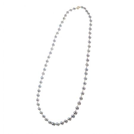 Vermeer 14K金日本akoya海水珍珠项链·珍珠颜色:灰色