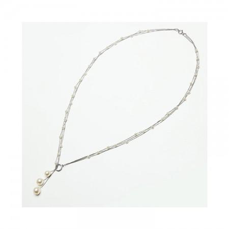 Vermeer 14K白金AKOYA海水珍珠项链·白色