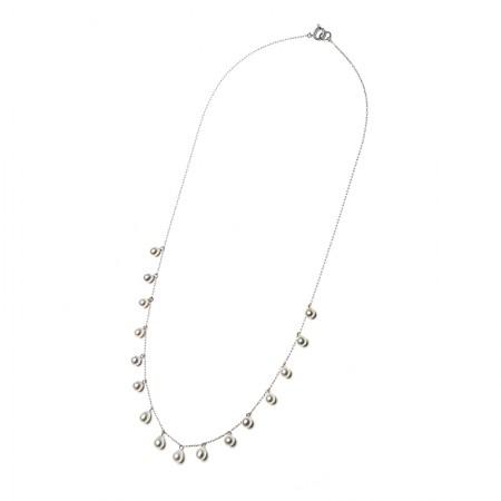 Vermeer 14K白金AKOYA海水珍珠项链3-4mm·珍珠颜色:白色