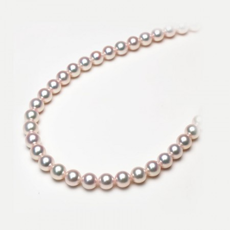 Vermeer S925银日本AKOYA海水珍珠整串项链9.5-10mm·白色