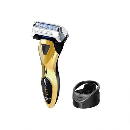 日本直邮 日本制 日立RM-LX01UF干湿两剃快充水洗烘干电动剃须刀 金色