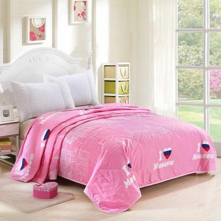唯眠纺 超柔空调被夏凉被200*230CM 时尚夏被-粉·水粉  水粉