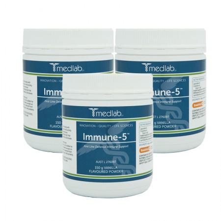 澳洲Medlab免疫5粉150g*3瓶