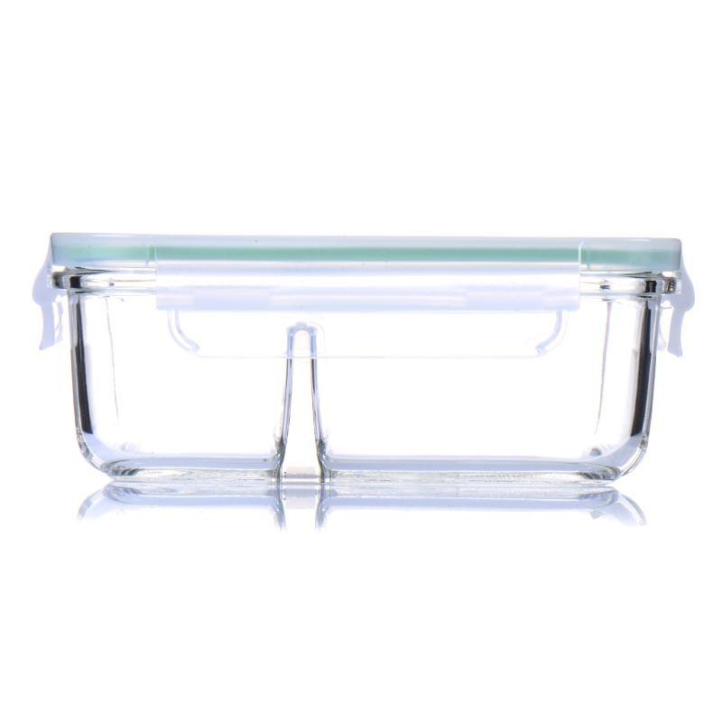 韩国进口Glasslock三光云彩钢化玻璃分隔便当盒MCRK-067 670ml