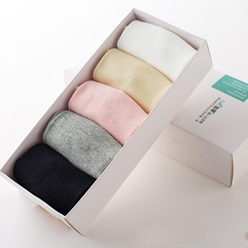 茵曼内衣 夏天袜子女 条纹 透气舒适 短袜五件装 9872202303-5·混合色