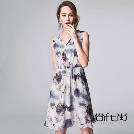 尚街 紫樱千夏真丝连衣裙·花色