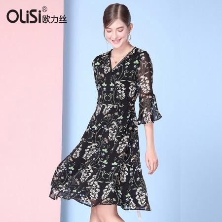 性感时尚修身显瘦连衣裙·黑/多色