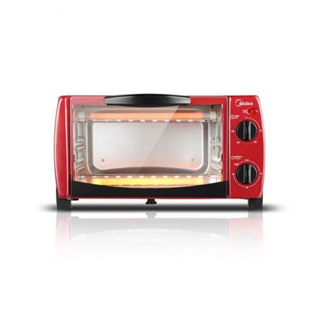 Midea/美的 T1-102D 家用10L多功能 迷你小烤箱·玫红89