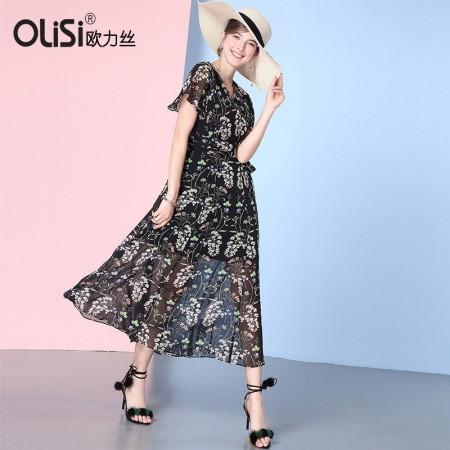 知性优雅修身显瘦连衣裙·黑/多色