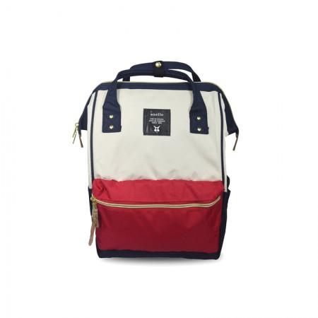 日本直邮 ANELLO 经典款牛津布双肩包 AT-B0193A 多色可选 红白蓝