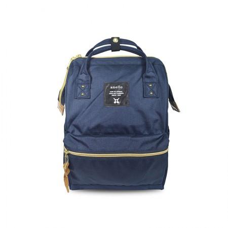 日本直邮 ANELLO 经典款牛津布迷你双肩包AT-B0197B 三色可选·藏蓝