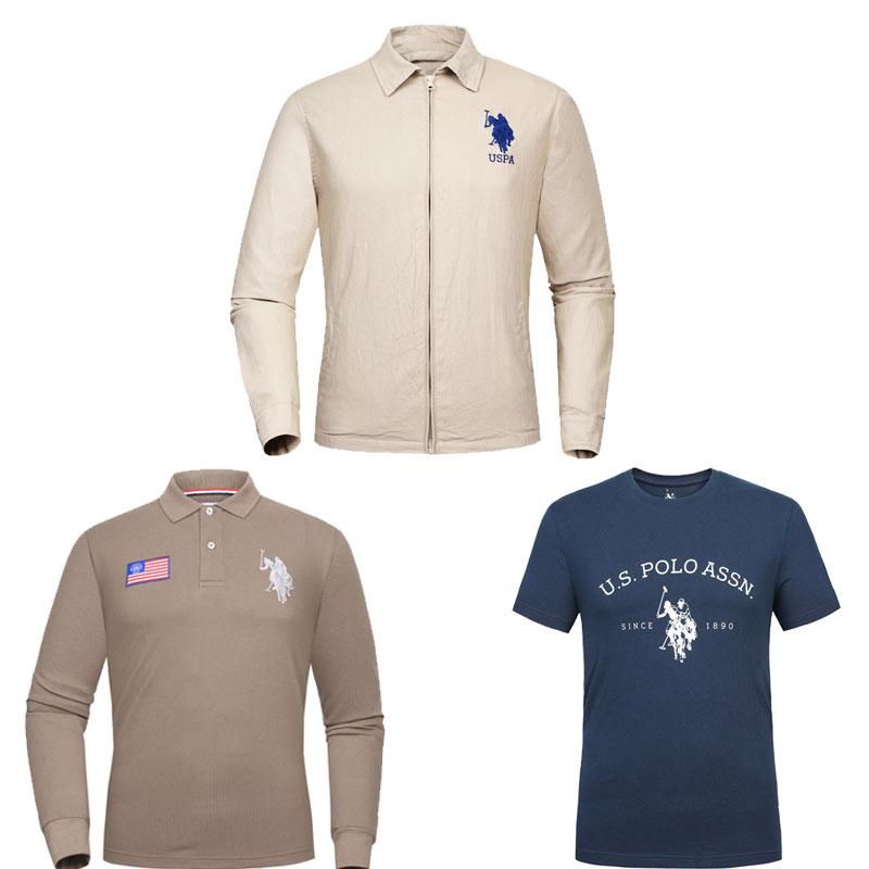 美国U.S.POLO ASSN.绅士休闲亚麻夹克·3件组