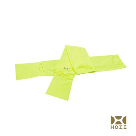 台湾HOII防晒美肤抗UV袖套开车袖套 魔术头巾·黄色