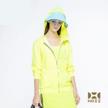 台湾HOII防晒服明星同款美白经典款外套连帽T恤·黄色