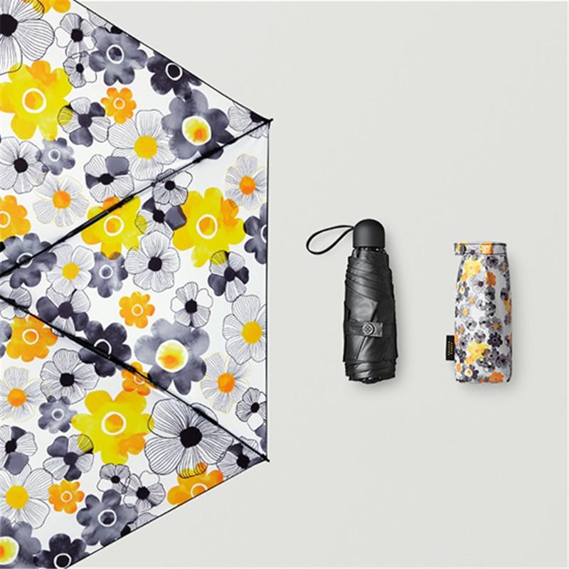 BANANAUNDER蕉下超轻口袋小黑胶防晒伞太阳伞