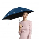 BANANAUNDER蕉下防晒伞女折叠防紫外线伞三折伞蝶蓝