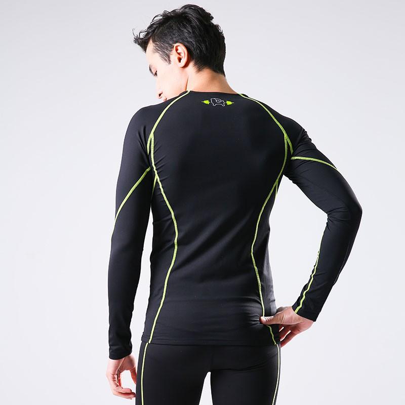 恒源祥Fazaye专业运动男士压缩长袖上衣CY2023·黑色