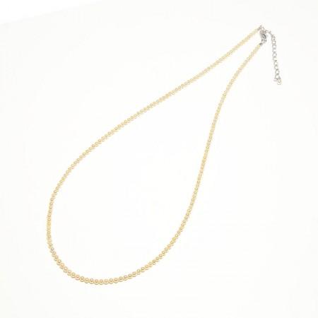 Vermeer S925银BABY AKOYA海水珍珠全珠金色项链2.5-3MM