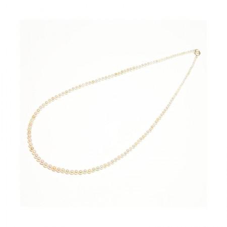 Vermeer 14K金AKOYA海水珍珠非正圆混彩全珠项链2-3.5m·珍珠颜