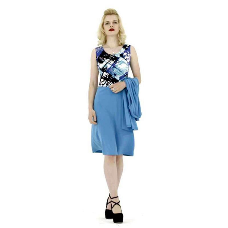 Femfey时尚印花开衫套裙·夏威夷海洋色