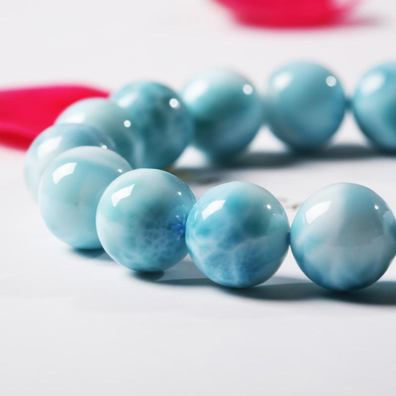 曼丽翠海纹石12mm圆珠单圈手串