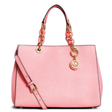 MICHAEL KORS 迈克·科尔斯 皮质戴妃包手提包中粉色 30S3TCYS