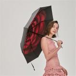 BANANA UNDER蕉下绒羽防晒小黑伞折叠晴雨伞女防紫外线太阳遮阳伞