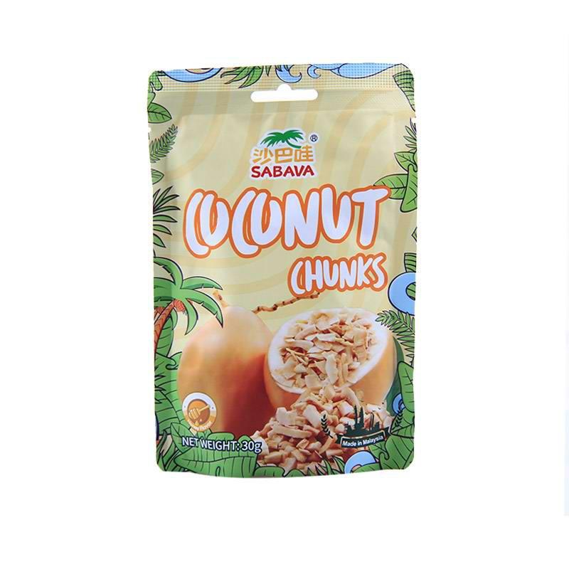 马来西亚进口沙巴哇金椰脆块家庭组