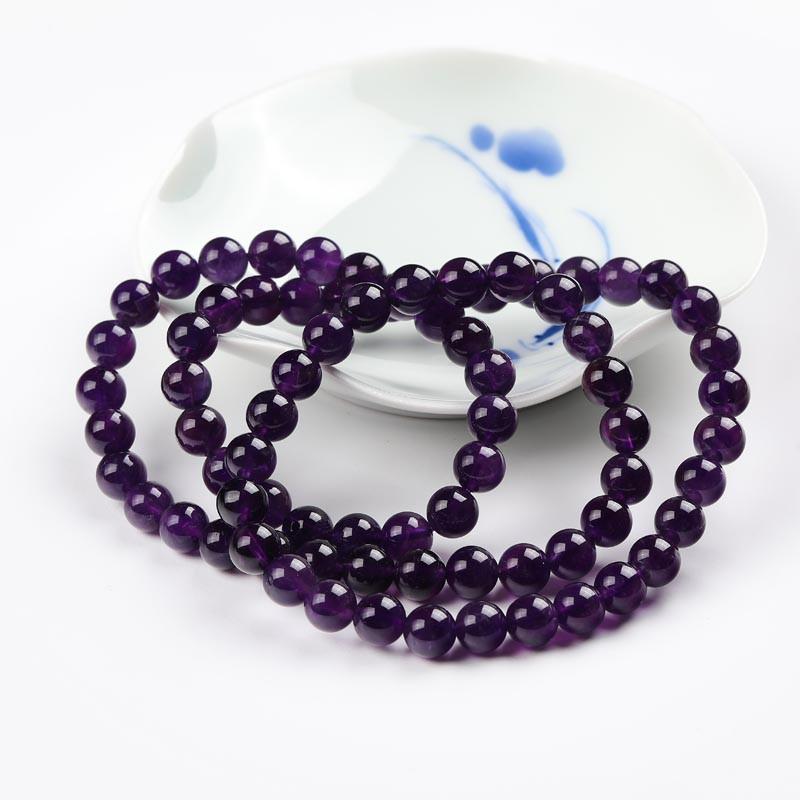 满记紫晶富贵项链多圈链约7.5-8mm