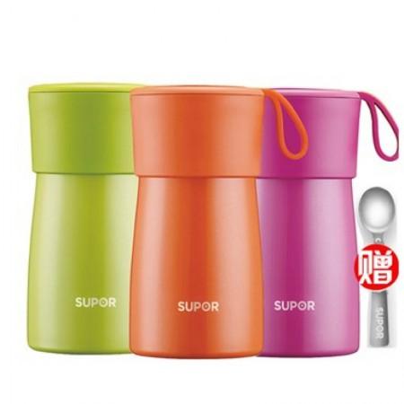 苏泊尔Supor 焖烧杯304不锈钢500ml保温提锅便携宝宝饭盒带餐具KC50