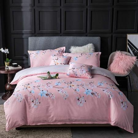 莱薇相思花语-粉美式全棉印花六件套