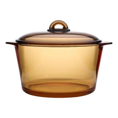 法国乐美雅 进口琥珀玻璃汤锅 5L