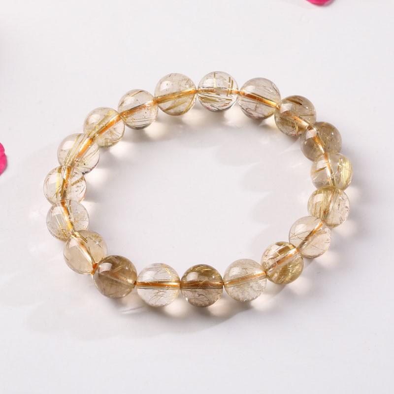 曼丽翠发晶11mm圆珠手链