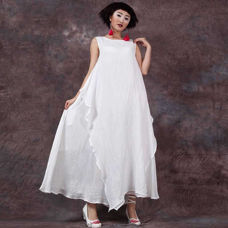 宽松连衣长裙
