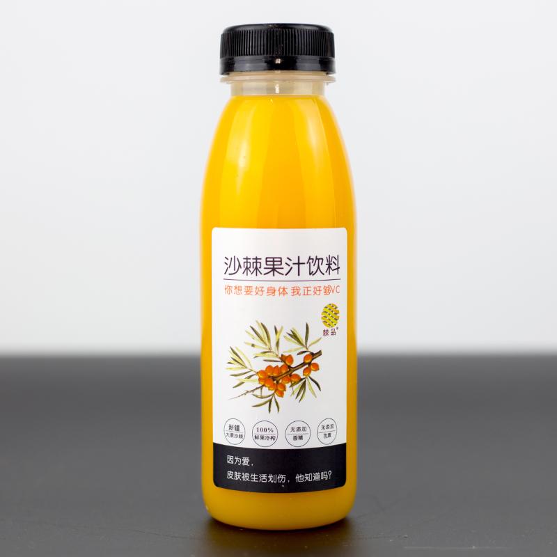 新疆阿勒泰 大果沙棘果汁饮料 无添加300ml*12瓶/箱