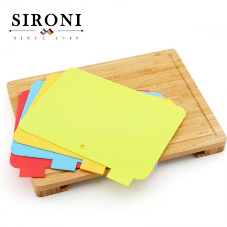 意大利SIRONI 多功能分类菜板5件套组